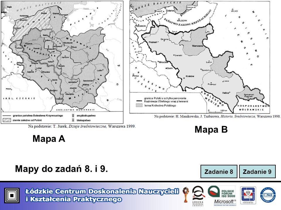 Mapa B Mapa A Mapy do zadań 8. i 9.