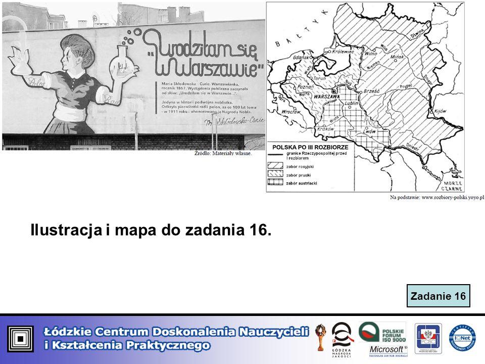 Ilustracja i mapa do zadania 16.
