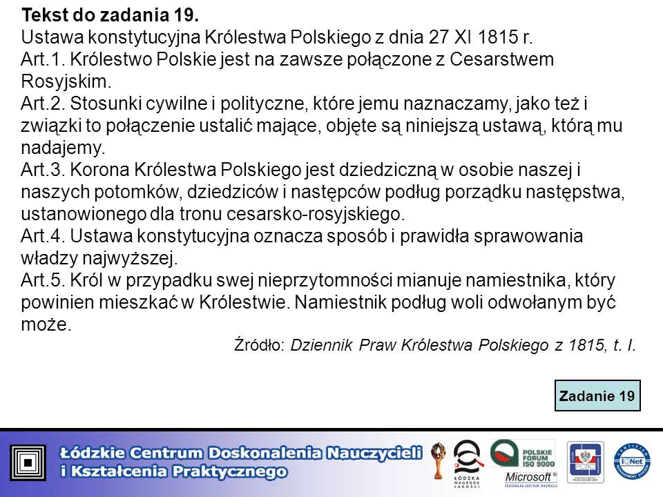 Ustawa konstytucyjna Królestwa Polskiego z dnia 27 XI 1815 r.