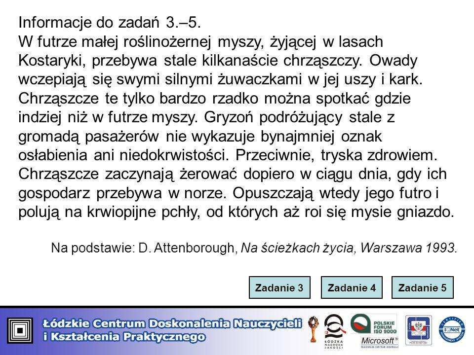 Informacje do zadań 3.–5.