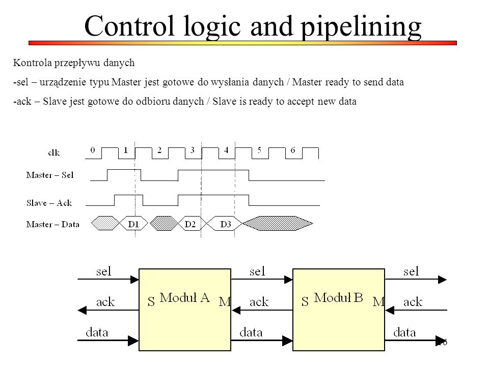 Control logic and pipelining