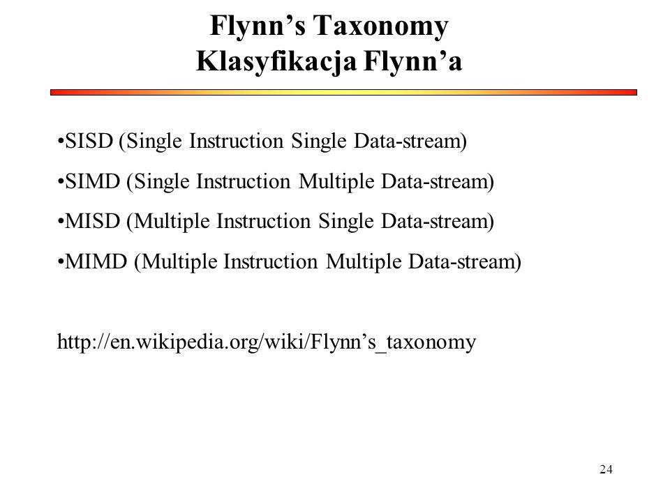 Flynn's Taxonomy Klasyfikacja Flynn'a