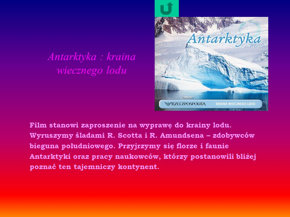 Antarktyka : kraina wiecznego lodu