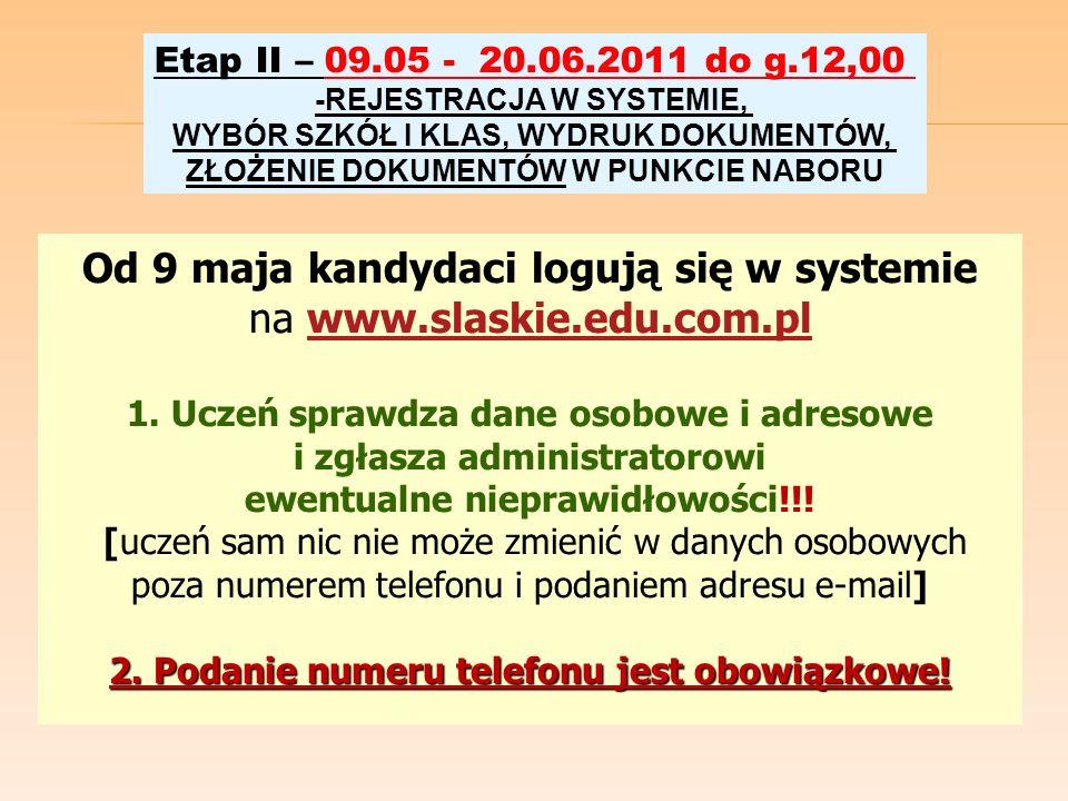Od 9 maja kandydaci logują się w systemie na www.slaskie.edu.com.pl