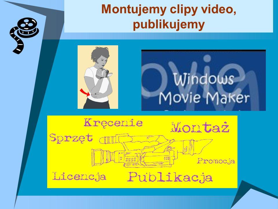 Montujemy clipy video, publikujemy