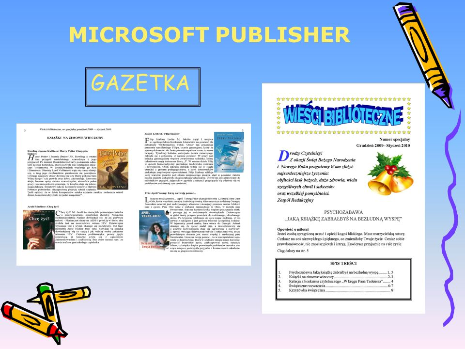 MICROSOFT PUBLISHER GAZETKA