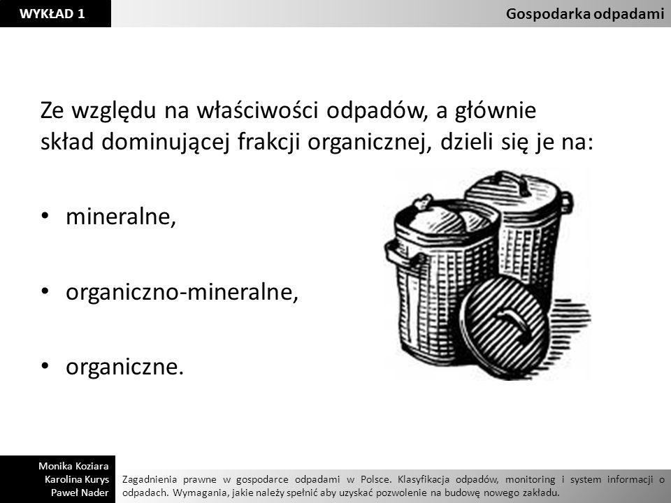 organiczno-mineralne, organiczne.