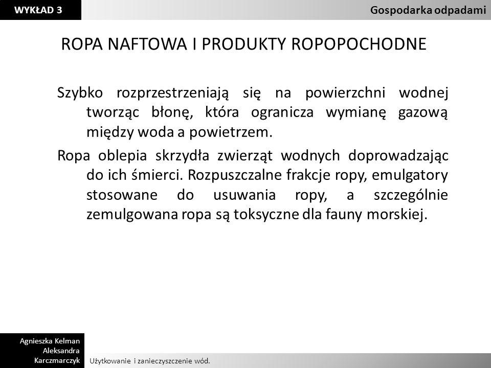 ROPA NAFTOWA I PRODUKTY ROPOPOCHODNE
