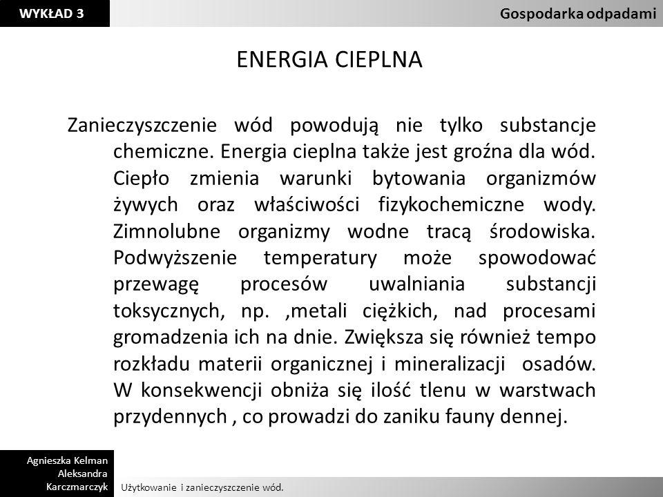 Klasyfikacja odpadów Gospodarka odpadami. ENERGIA CIEPLNA.