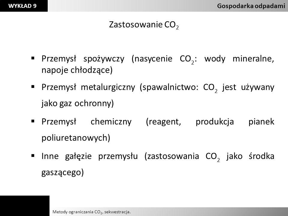 Przemysł spożywczy (nasycenie CO2: wody mineralne, napoje chłodzące)