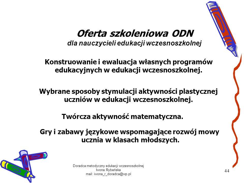 Oferta szkoleniowa ODN