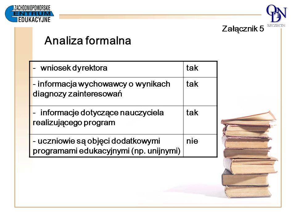 Załącznik 5 Analiza formalna
