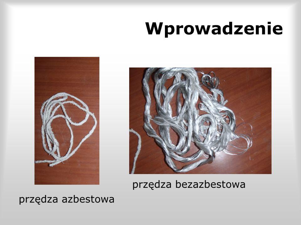 Wprowadzenie przędza bezazbestowa przędza azbestowa