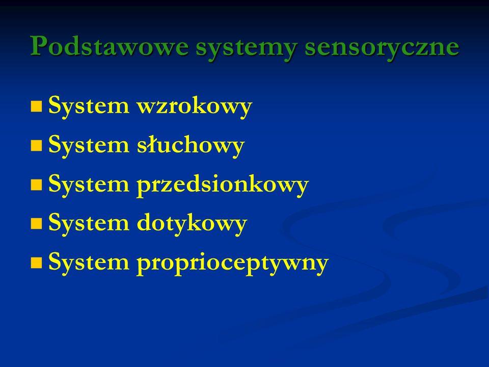 Podstawowe systemy sensoryczne
