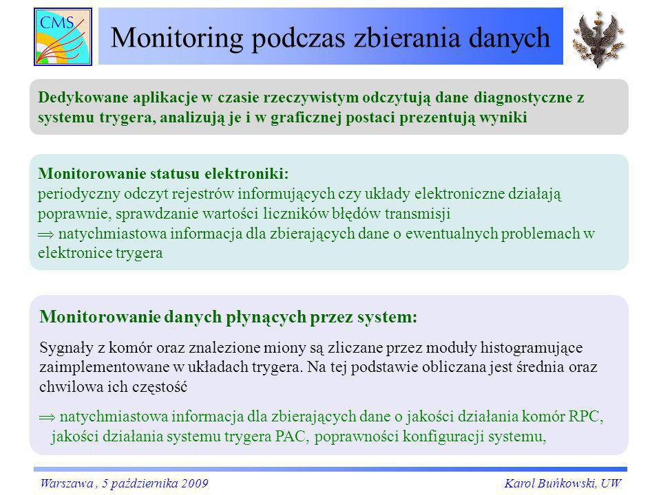 Monitoring podczas zbierania danych