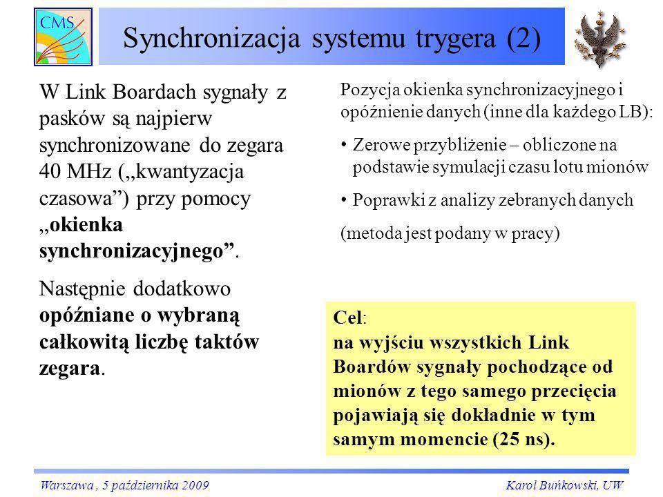 Synchronizacja systemu trygera (2)