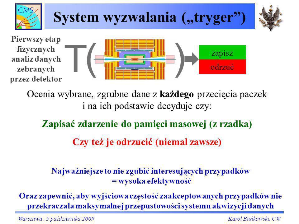 """System wyzwalania (""""tryger )"""
