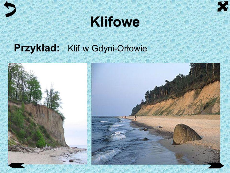 Klifowe Przykład: Klif w Gdyni-Orłowie