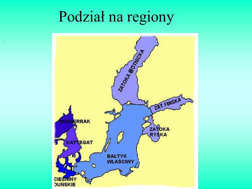 Podział na regiony .