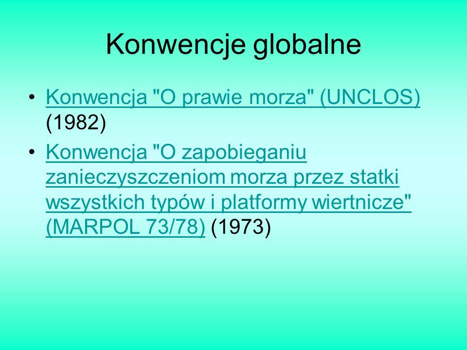 Konwencje globalne Konwencja O prawie morza (UNCLOS) (1982)