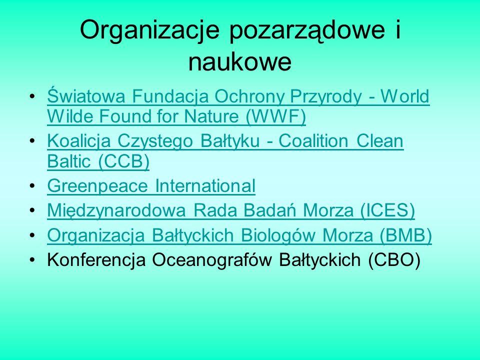 Organizacje pozarządowe i naukowe