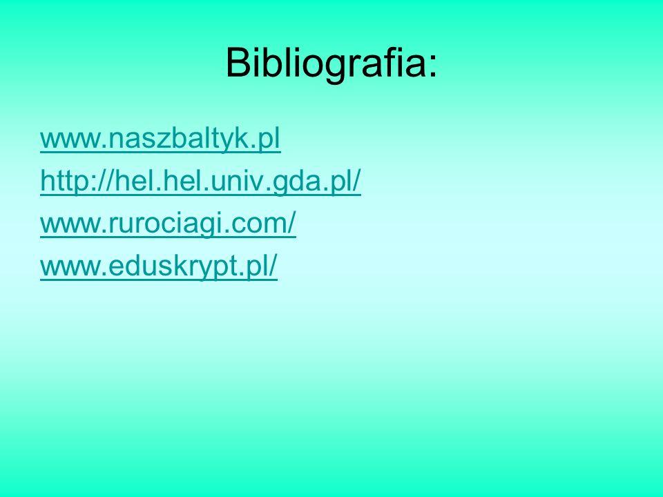 Bibliografia: www.naszbaltyk.pl http://hel.hel.univ.gda.pl/