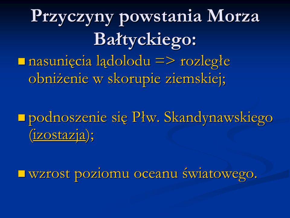 Przyczyny powstania Morza Bałtyckiego: