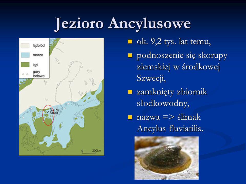 Jezioro Ancylusowe ok. 9,2 tys. lat temu,