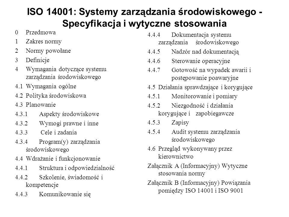 ISO 14001: Systemy zarządzania środowiskowego - Specyfikacja i wytyczne stosowania