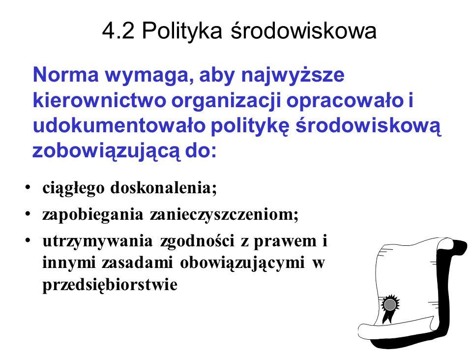 4.2 Polityka środowiskowa