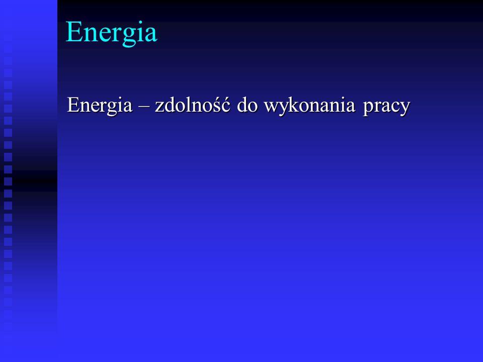 Energia Energia – zdolność do wykonania pracy