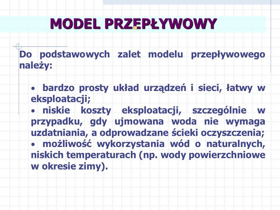 . MODEL PRZEPŁYWOWY Do podstawowych zalet modelu przepływowego należy: