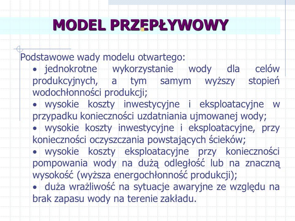 . MODEL PRZEPŁYWOWY Podstawowe wady modelu otwartego: