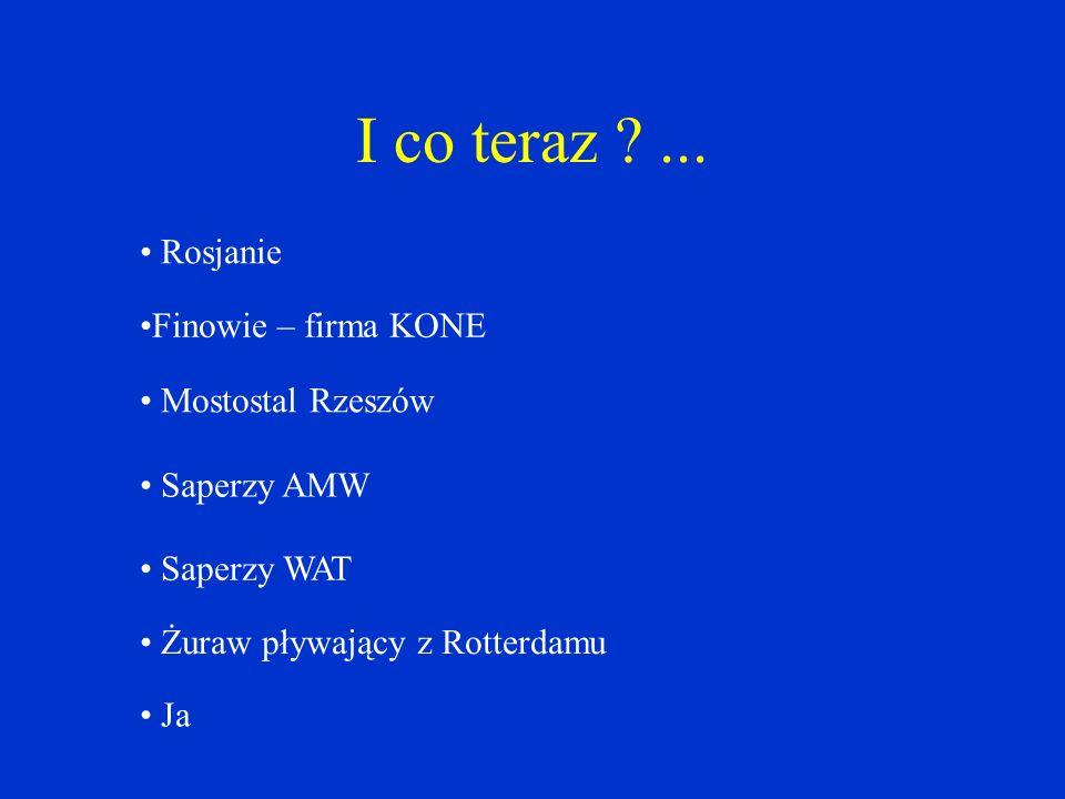 I co teraz ... Rosjanie Finowie – firma KONE Mostostal Rzeszów