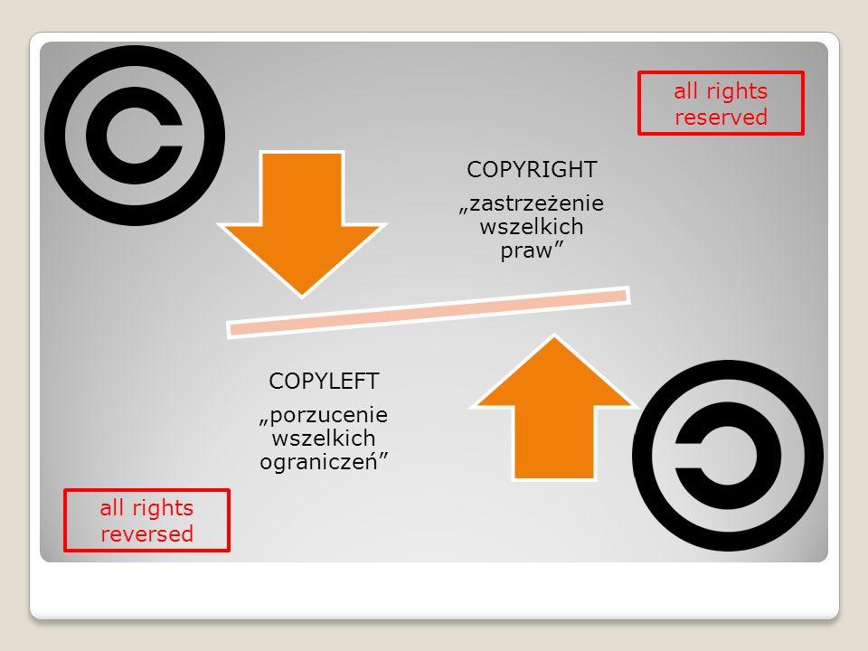 """all rights reserved all rights reversed """"zastrzeżenie wszelkich praw"""