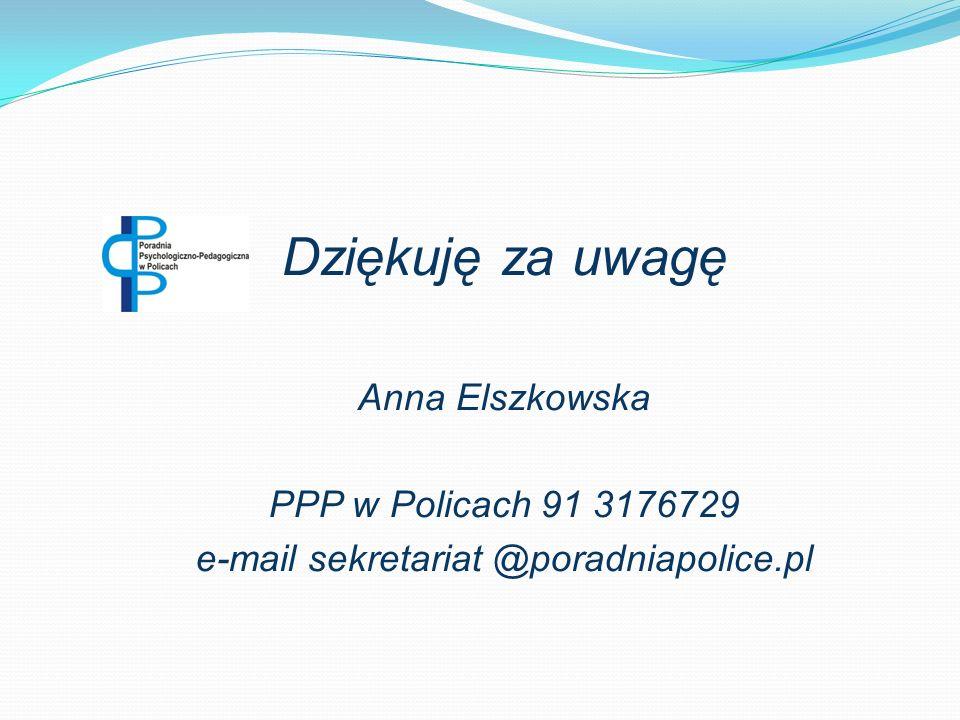 e-mail sekretariat @poradniapolice.pl