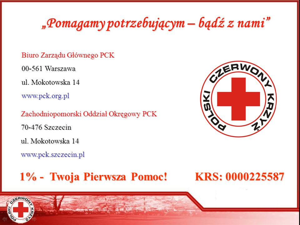 1% - Twoja Pierwsza Pomoc! KRS: 0000225587