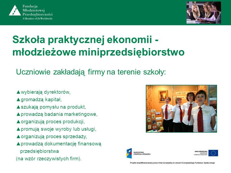 Szkoła praktycznej ekonomii - młodzieżowe miniprzedsiębiorstwo