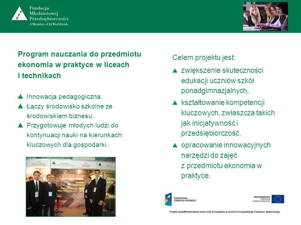 Program nauczania do przedmiotu ekonomia w praktyce w liceach i technikach