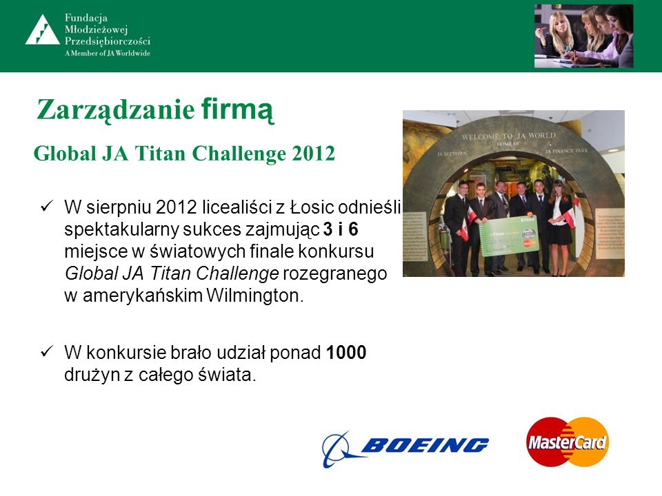 Global JA Titan Challenge 2012