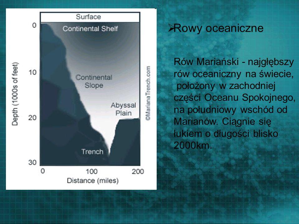 Rowy oceaniczne Rów Mariański - najgłębszy rów oceaniczny na świecie,