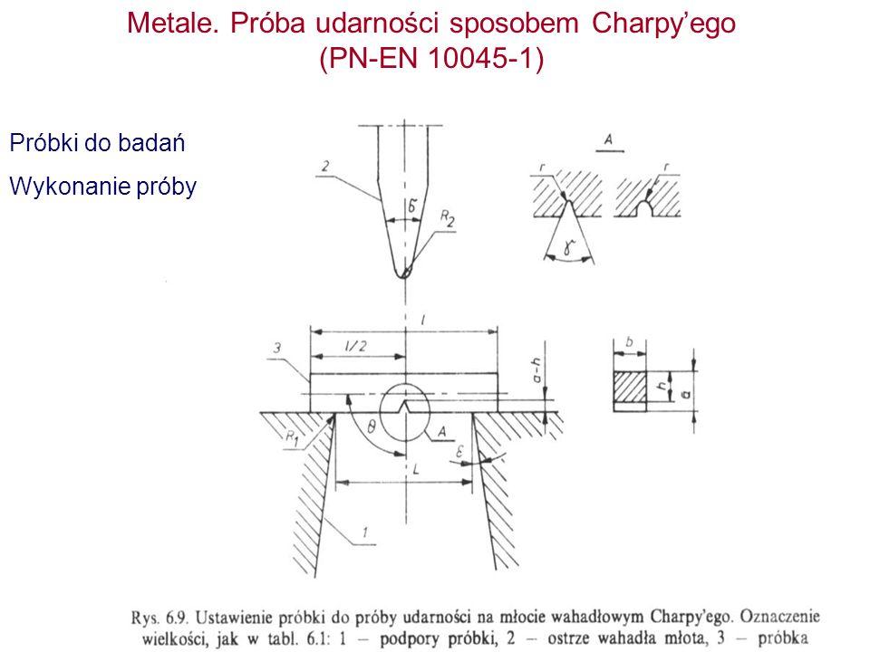 Metale. Próba udarności sposobem Charpy'ego (PN-EN 10045-1)