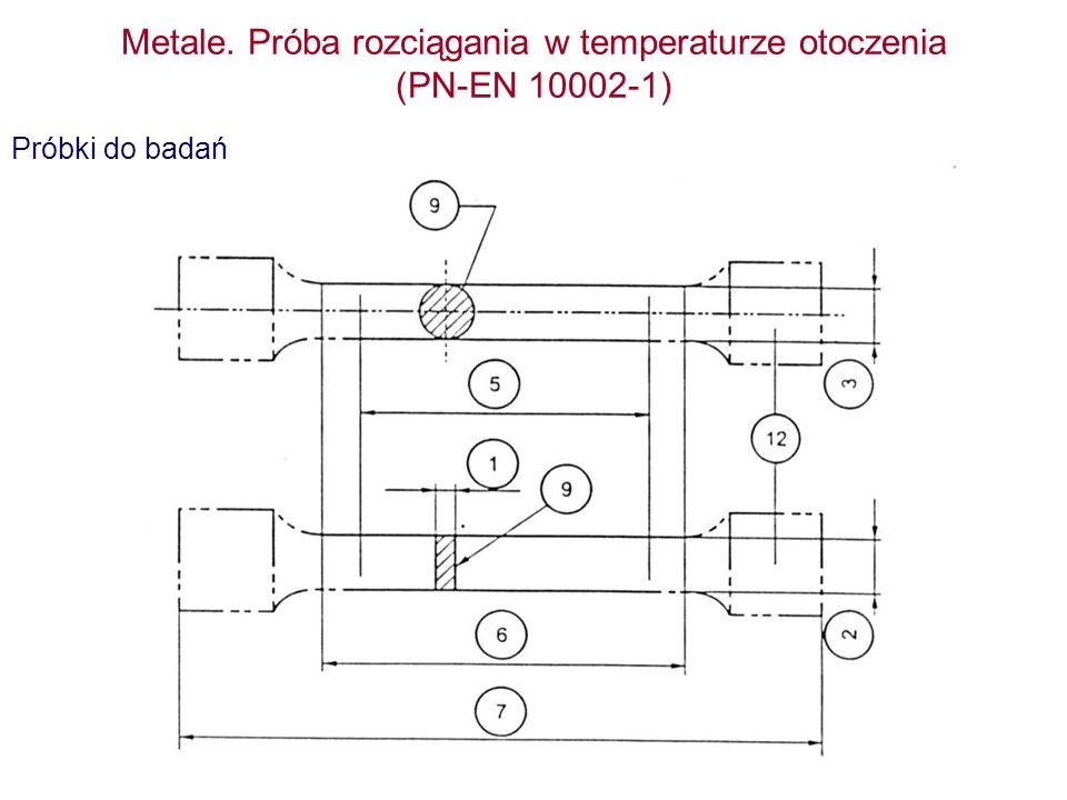 Metale. Próba rozciągania w temperaturze otoczenia (PN-EN 10002-1)