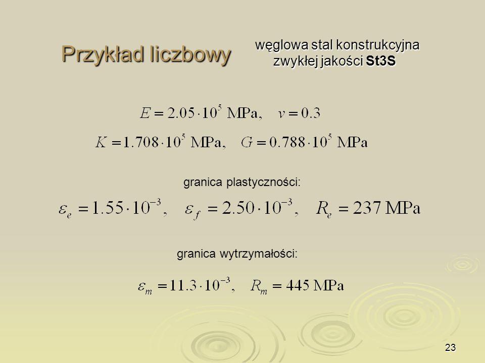 Przykład liczbowy węglowa stal konstrukcyjna zwykłej jakości St3S