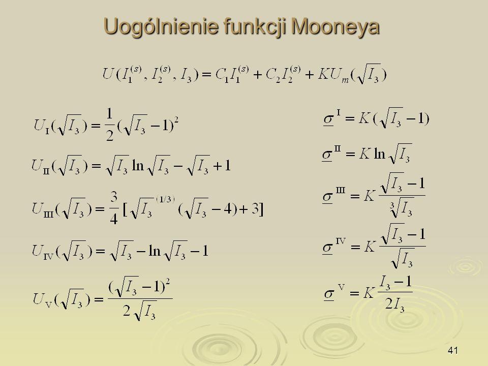 Uogólnienie funkcji Mooneya