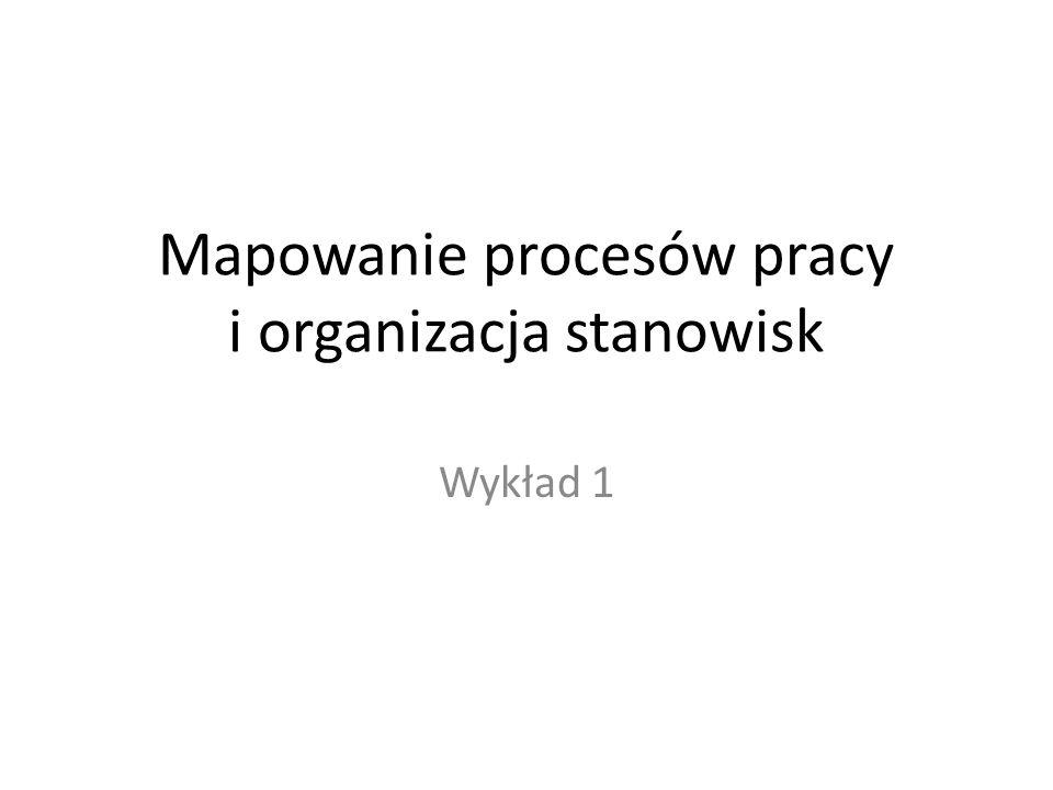Mapowanie procesów pracy i organizacja stanowisk
