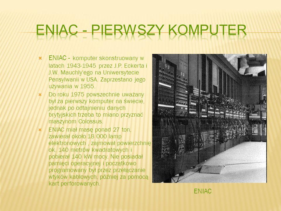 Eniac - pierwszy komputer