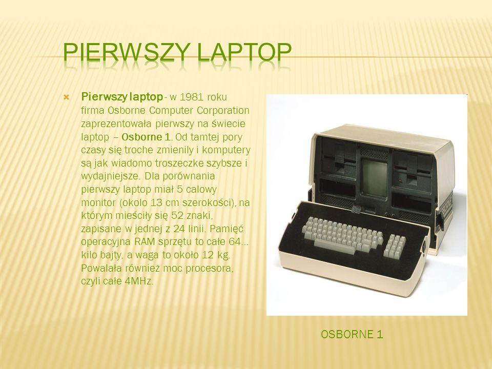 Pierwszy laptop