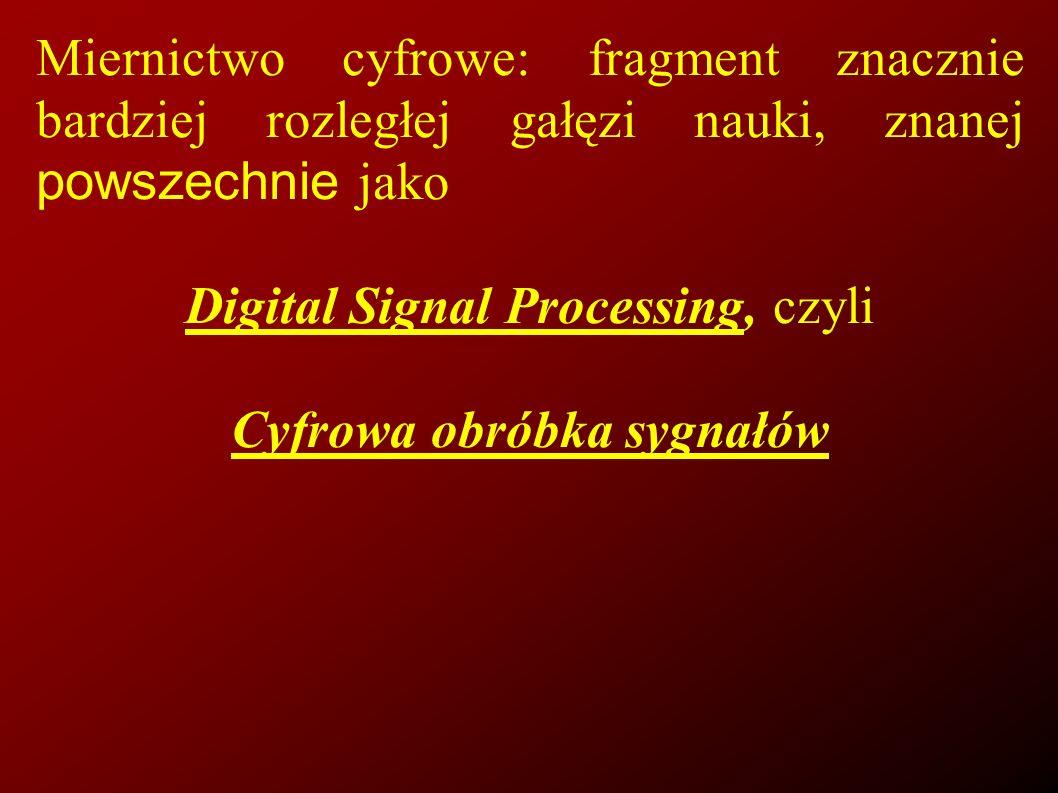 Cyfrowa obróbka sygnałów