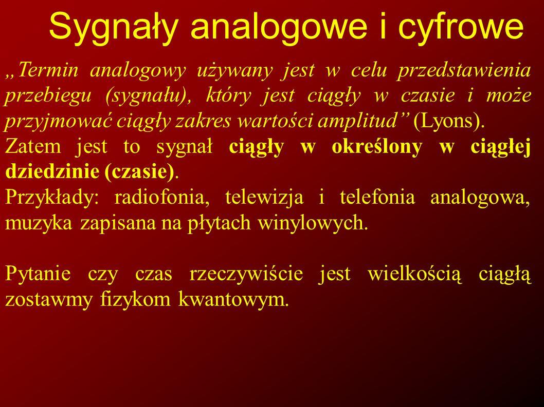 Sygnały analogowe i cyfrowe